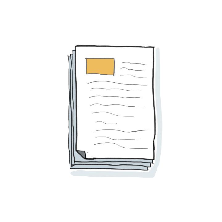 Illustration Tätigkeitsberichte